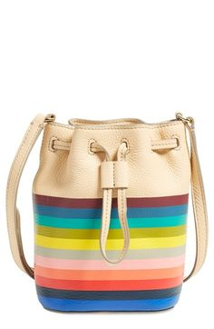 Tory Burch Striped Bucket Bag available at #Nordstrom