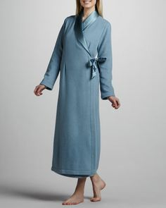 Michelle Long Robe, Blue - Neiman Marcus