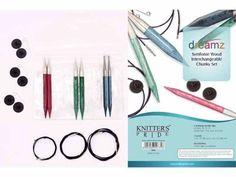Knitter's Pride ::Dreamz Symfonie Wood Chunky Interchangeable Needle Set:: New Knitting Needle Sets, Circular Knitting Needles, Big Needle, Interchangeable Knitting Needles, Big Knits, Super Bulky Yarn, Seed Stitch, Yarn Shop, Types Of Yarn