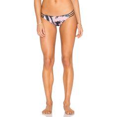 WATER GLAMOUR Mia Reversible Itsy Bikini Bottom (5,875 INR) ❤ liked on Polyvore featuring swimwear, bikinis, bikini bottoms, bikini bottom swimwear, reversible swimwear, bottom bikini, strappy swimwear and reversible bikinis