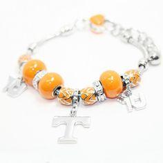 Tennessee Volunteers Beads & Team Logo Charm Bracelet at mimiamor.com
