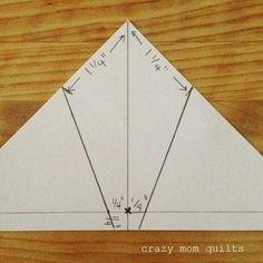 crazy mom quilts: mini spiderweb measurements