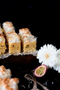 Passionfruit Coconut Meringue Bars - The Brick Kitchen