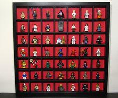 LEGO Minifig Case- use wood or black sintra instead of foamboard