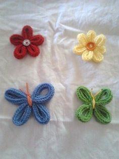ampliar Spool Knitting, Hand Knitting, Knitting Patterns, Crochet Patterns, Finger Knitting Projects, Crochet Projects, Weaving For Kids, Loom Craft, Peg Loom