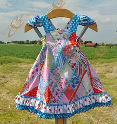 Girls Feliz dress with ruffles