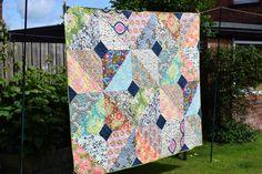Autumn Boho Quilt, Autumn, Boho, Pattern, Designers, Scrappy Quilt, Scraps, British Patchwork & Quilting Magazine, handmade quilt, patchwork, quilting