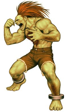 View an image titled 'Blanka (Street Fighter) Art' in our Capcom vs. SNK art gallery featuring official character designs, concept art, and promo pictures. Street Fighter Alpha, Capcom Street Fighter, Super Street Fighter, Manga Anime, Comic Manga, Manga Art, Art Of Fighting, Fighting Games, Blanka Street Fighter