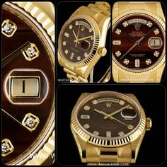 Rolex Yellow Gold Taurus Eye Diamond DayDate #Rolex #Gold #Diamond #Taurus #Bull #BullsEye #TaurusEye #DayDate #Gents #Luxury #Wristwatch #Timepiece #WatchCentre #London