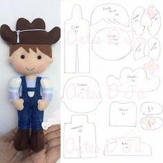 Eu Amo Artesanato: Boneco cowboy