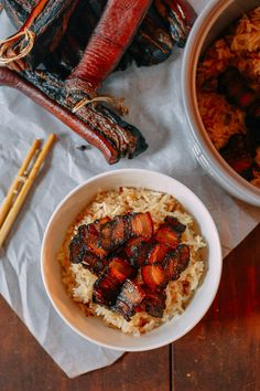 Chinese Cured Pork Belly, by thewoksoflife.com