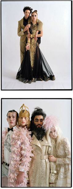Cara Delevingne, Lucy, Sylvester, Charlie, Adwoa, Jermaine, Izzy, Suren, Claudia, Cosmo, Ashley, Otis And Jessie By Tim Walker For W April 2013 'Couture's OutreAttitude' - 8 Style | Sensuality Living - Women's Fashion & Lifestyle News From Anne of Carversville