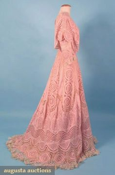 Tea Gown 1905, American, Made of cotton