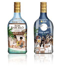 Diseño de la botella de Ron Barceló por Moderna de Pueblo #BotellaDesalia