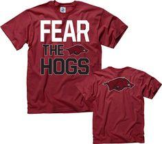 Arkansas Razorbacks Cardinal Fear T-Shirt