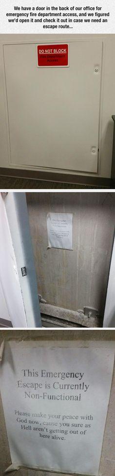 We have a door...