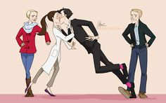 Sherlolly - With A Little More Help From My Friends.  artbylexie.tumblr.com  |  Hahahaha I feel like this is totally what would happen :D