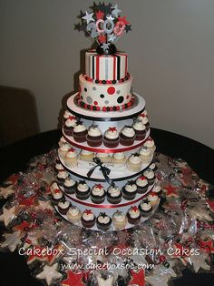 graduation cupcakes decorating ideas | Graduation Cupcake Tower | Flickr - Photo Sharing!