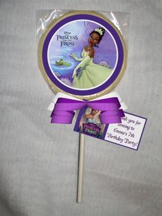 Welcome Bag Princess and the Frog Tiana Personalized Chocolate Lollipop or Cookie | PartiesRPersonal - Edibles on ArtFire