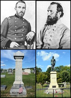 Pictured are two of Lewis County's heroes! General Lightburn, who fought for the Union, and General Stonewall Jackson who fought for the Confederates. They lived across the river from each other and were great friends as youngsters.