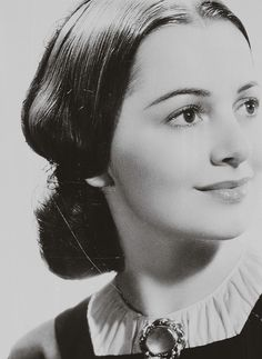 Olivia de Havilland as Melanie Hamilton in Gone With The Wind, 1939.