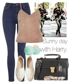 """Sunny day with Harry."" by welove1 ❤ liked on Polyvore featuring Topshop, Yves Saint Laurent, River Island, H&M, Full Tilt and Eos"