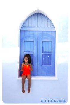 Baby Bali Swimsuit - neon orange collection at suuim.com