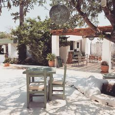 Table for two at Aubergine in #Ibiza. Read, and see, more of this beautiful restaurant on petitepassport.com.