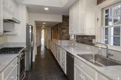 Galley Kitchen, countertops, colors