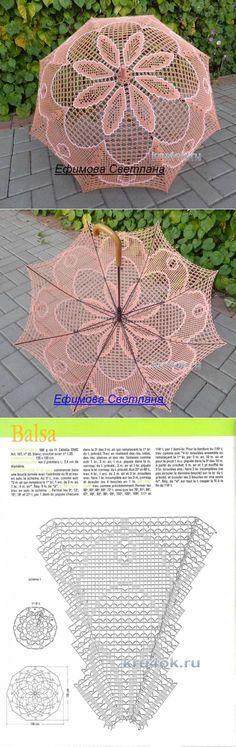 Calado de punto paraguas. Svetlana trabajar Efimova - ganchillo en kru4ok.ru