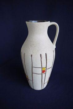 Jasba Vase Henkelvase Keramik Form 233/50 German pottery 50er  | eBay