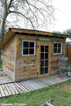 Project: Pallet Shed- Finishing touches!