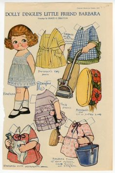 Dolly Dingle's Little Friend Barbara | paper doll |