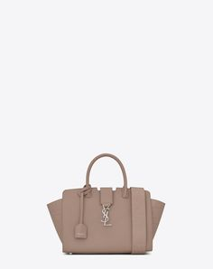 Saint Laurent Baby Downtown Ysl Bag In Oil Tan Leather And Crocodile Embossed Leather In Mouse Gray You Are My Superhero, Me Bag, Baby Monogram, Saint Laurent Bag, Metal Buckles, Grey Leather, Crocodile, Purses, Handbags