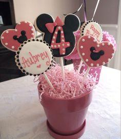 Centro de mesa galletas Minnie