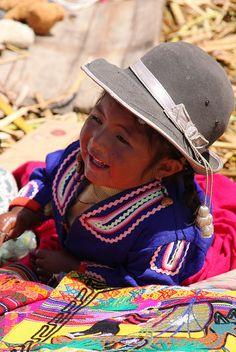 Perú, Niño de Puno, Usted puede decir por su estilo de sombrero.