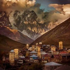 Ushguli (Georgian: უშგული) is a community of villages located at the head of the Enguri gorge in Upper Svaneti. The area is snow-covered for 6 months of the year. Photo by Aaron Huey.