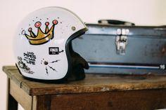loud pipes helmet