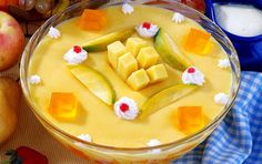 Mango Custard Recipe- Learn how to make Mango Custard step by step on Times Food. Find all ingredients and method to cook Mango Custard along with preparation & cooking time. Eggless Pudding Recipe, Mango Custard Recipe, Kheer Recipe, Custard Recipes, Pudding Recipes, Mango Dessert Recipes, Mango Recipes, Jam Recipes, Cooking Recipes