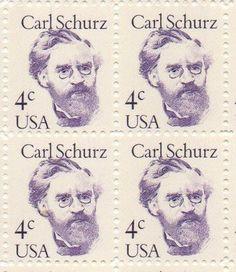 Carl Schurz Set of 4 x 4 Cent US Postage Stamps NEW Scot 1847 . $4.95. One set of four (4) Carl Schurz 4 x 4 Cent postage stamps Scot #1847
