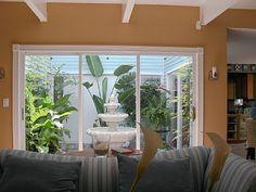 Atrium Garden in living room Atrium Garden, Atrium House, Courtyard House, Indoor Garden, Laguna Woods, Pinterest Garden, Contemporary Building, Home Projects, Home Interior Design