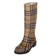 Burberry Women's Check Rubber Rain Boots | Overstock.com Shopping - The Best Deals on Designer Women's Shoes