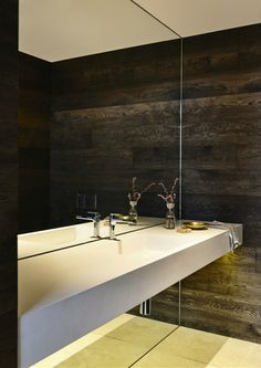 Large bathroom mirrors to decorate the interior - Shower Remodeling