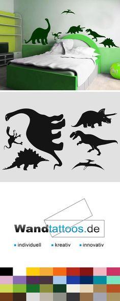 Wandtattoo Dinos als Idee zur individuellen Wandgestaltung. Einfach Lieblingsfarbe und Größe auswählen. Weitere kreative Anregungen von Wandtattoos.de hier entdecken!