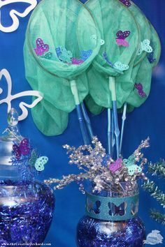 butterfly nets for Winter Butterfly Birthday - via the Creative Orchard