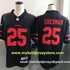 Men's Nike Richard Sherman Scarlet San Francisco #49ers Black Vapor  Untouchable Player Limited Stitched Jersey