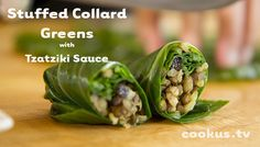 An alternative for Stuffed Cabbage - use Quinoa & Beef Filling version and choose another sauce from Cookus Interruptus - How to Make Stuffed Collard Greens with Tzatziki Sauce
