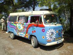 VW rental bus on Ibiza Vw T1, Volkswagen, Ibiza Formentera, West Road, Ibiza Fashion, Key West, Flower Power, Road Trip, Van