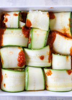 easy cheesy zucchini roll-ups I howsweeteats.com