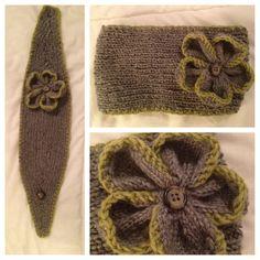 Grey Knit Earwarmer by agirlnamedleney on Etsy, $40.00